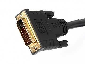 ATP-14009-07 2ft (0.7m) Plenum DVI Dual Link Male/Male Cable by Atlona