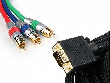 7M (23FT) VGA TO COMPONENT / COMPONENT TO VGA BREAKOUT VIDEO CABLE by Atlona