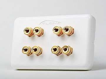 AT80080 HIGH-QUALITY WALL PLATE FOR 4 SPEAKERS by Atlona
