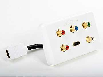 AT80CHD-1 Hdmi and Component With Audio Wall Plate by Atlona