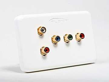 AT80COMP5 (5-Rca) Component Video Wall Plate With Analog Audio by Atlona