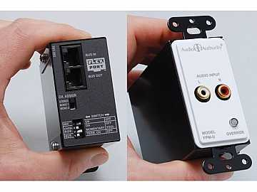 FPM-U RCA Wallplate Extender stereo Audio over Cat 5 up to 500ft by Audio Authority