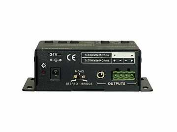 AS-AMP1 Analog Audio Amplifier with Volume/EQ/RS-232 control by Aurora Multimedia