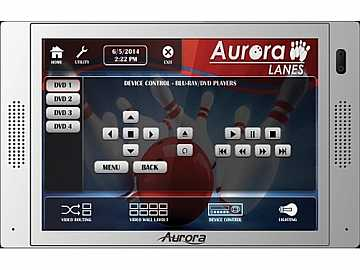 QXT-700-W 7in In-Wall Touch Panel with Control System White by Aurora Multimedia