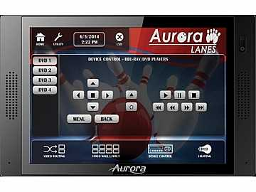 QXT-700-B 7in In-Wall Touch Panel with Control System Black by Aurora Multimedia