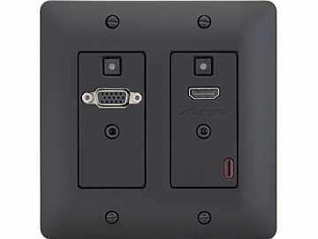 DXW-2-B HDMI/VGA HDBaseT Wall Plate Extender (Transmitter) Black by Aurora Multimedia