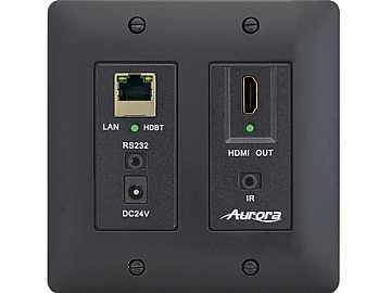DXW-2E-RX2-B-K Ethernet HDBaseT Wall Plate Extender (Receiver) Black by Aurora Multimedia