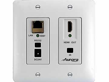 DXW-2E-RX2-W-K Ethernet HDBaseT Wall Plate Extender (Receiver) White by Aurora Multimedia