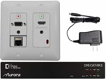 DXW-2E-S3C-W HDBaseT HDMI/VGA/LAN WP Extender with IP Control / White by Aurora Multimedia