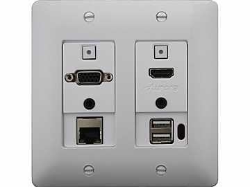 DXW-2EUH-W HDMI/VGA/Ethernet/USB Host WP Extender (Transmitter) White by Aurora Multimedia