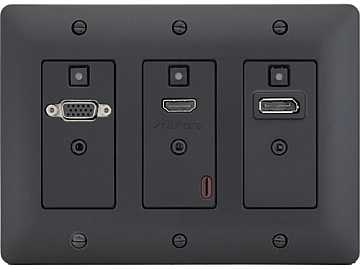 DXW-3-B HDMI/VGA/DisplayPort WP Extender (Transmitter) Black by Aurora Multimedia