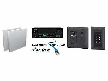 ORC-1-B HDMI/VGA/Audio/RS232 HDBaseT Extender Kit   Control(Black) by Aurora Multimedia