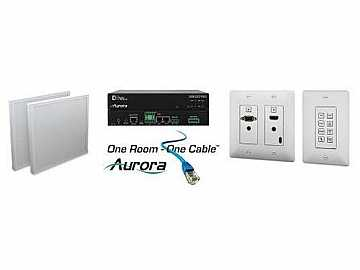 ORC-1-W HDMI/VGA/Audio/RS232 HDBaseT Extender Kit   Control(White) by Aurora Multimedia