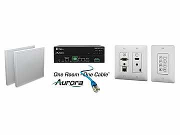 ORC-2-W HDMI/VGA/Audio HDBaseT Extender Kit Control with Net(White) by Aurora Multimedia