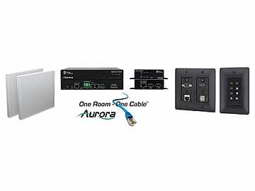 ORC-3-B HDMI/VGA/Audio HDBaseT Extender Kit with Ethernet/USB/Black by Aurora Multimedia