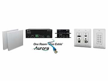 ORC-3-W HDMI/VGA/Audio HDBaseT Extender Kit with Ethernet/USB/White by Aurora Multimedia
