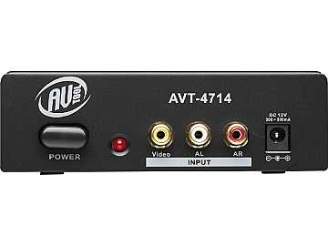 AVT-4714 1x4 Composite Video and Audio Distribution Amplifier by AV-Tool