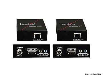 HBT-C6IR-SET HDBaseT HDMI Extender(Transmitter/Receiver)Set Single CAT5/6 with Bi-Directional IR by Avenview