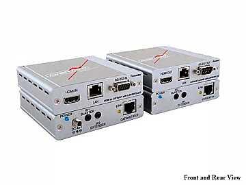 HBT-C6POE-SET HDBaseT HDMI CAT5 Extender(Transmitter/Receiver)Set POE/LAN/RS-232/IR 100m/330ft by Avenview