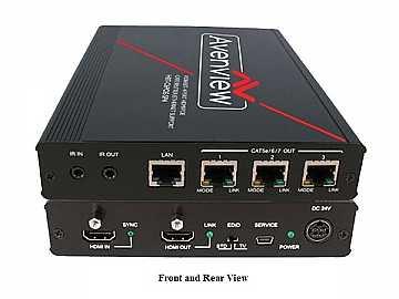 HBT-C6POE-SP4 1X4 HDBaseT HDMI 4K2K Splitter w/PoE/IR/ Ethernet by Avenview