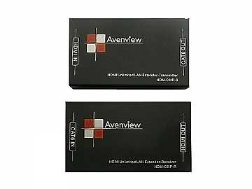 HDM-C6IP-SET HDMI UNLIMITED LAN Extender (Transmitter/Receiver) Set Over Single CAT6 by Avenview