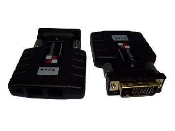 FO-DVI-DL-1000M DVI Dual-Link Extender(Transmitter/Receiver) Set over 2 fiber SC Cables (HDCP COMPLIANT) by Avenview