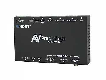 AC-EX100-UHD-T 100M HDBaseT Extender (Transmitter) with RS-232/IR/Audio Extraction by AVPro Edge