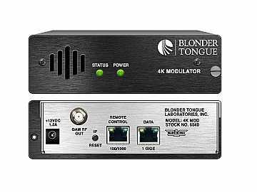 4K MOD 4K Modulator/4 x IP Inputs/4 x QAM Outputs by Blonder Tongue