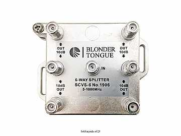 SCVS-6 6-Way Solder Back/5-1000 MHz/L Style RF Splitter (25 Pieces) by Blonder Tongue