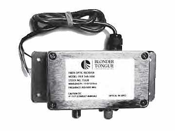 FILR-S4A-3000 L-Band Fiber Optic Extender (Receiver) Single-mode by Blonder Tongue