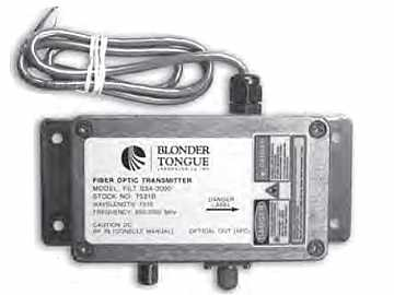 FILT-S3A-3000 L-Band Fiber Optic Transmitter/Sender Single-mode by Blonder Tongue