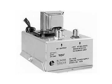 PS-1526 21 VDC At 40mA Power Supply Single Output by Blonder Tongue