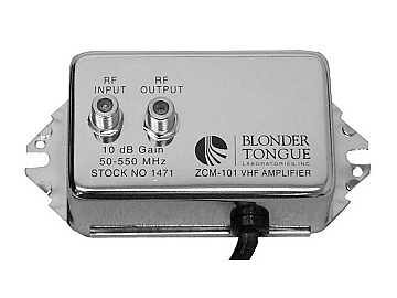 ZCM-101 Broadband VHF/CATV Distribution Amplifier by Blonder Tongue