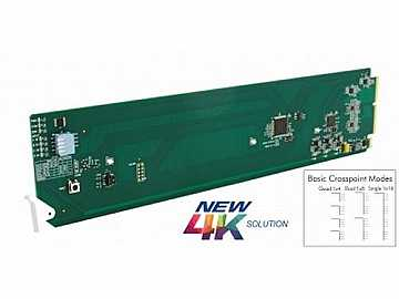 9910DA-4Q-3G 3G/HD/SD Quad-Channel Milti-Rate DA Card w x4 O Crosspoint by Cobalt Digital