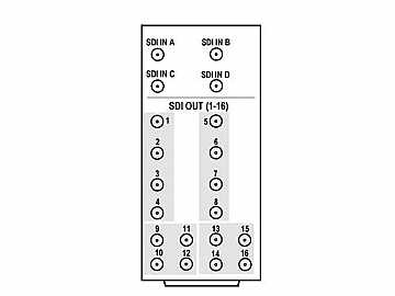 RM20-9910-4Q-B-DIN 20-slot Frame Rear I/O Module (St Wdth) 3G/HD/SD-SDI by Cobalt Digital
