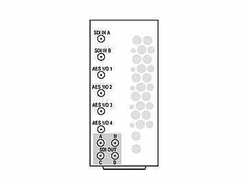 RM20-9921-F-HV2-DIN 20-slot Frame R I/O Mod (St W/Hi-Vent) 3G/HD/SD-SDI by Cobalt Digital