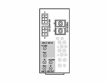 RM20-9921-XF-HV-DIN 20-slot Frame R I/O Mod (St W) CVBS/Comp (w HV RM) by Cobalt Digital