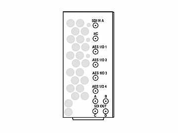 RM20-9931-B-HV-DIN 20-slot Frame Rear I/O Mod (St W/Hi-Vent) 3G/HD/SD-SDI by Cobalt Digital