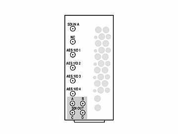 RM20-9931-F-HV2-DIN 20-slot Frame R I/O Mod (St W/Hi-Vent) 3G/HD/SD-SDI by Cobalt Digital