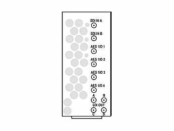 RM20-9985-B-HV-DIN 20-slot Frame Rear I/O Mod (St W/Hi-Vent) 3G/HD/SD-SDI by Cobalt Digital