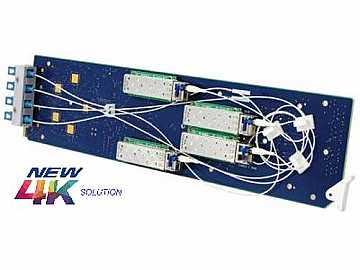 9404-EO 4K/3G/HD/SD-SDI/ASI/MADI Quad-Channel 1310 nm Extender (Tx) Card by Cobalt Digital