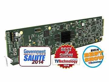 9970-QS 3G/HD/SD-SDI/CVBS M-Image Expandable Display Processor Card by Cobalt Digital