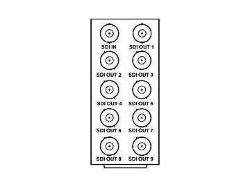RM20-9001-A 20-slot Frame Rear I/O Module (Stand Wdth) 3G/HD/SD-SDI by Cobalt Digital