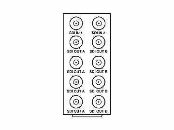 RM20-9004-A 20-slot Frame Rear I/O Module (Stand Wdth) Dual 3G/HD/SD-SDI by Cobalt Digital