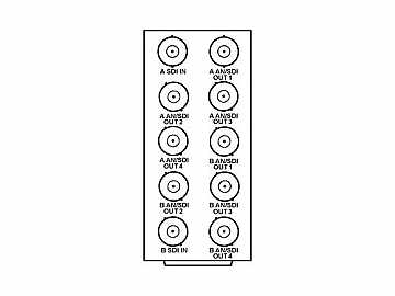 RM20-9015-A 20-slot Frame Rear I/O Module (Stand Wdth) Dual SDI by Cobalt Digital