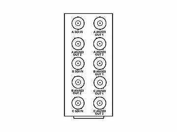 RM20-9016-A 20-slot Frame R I/O Mod (St W) Ch A: 3 O/Ch B: 2 O/Ch C: 2 O by Cobalt Digital