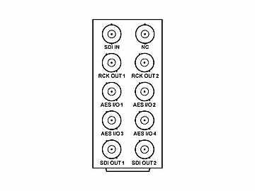 RM20-9085-A 20-slot Frame Rear I/O Module (St W/Hi-Dens) HD/SD-SDI by Cobalt Digital