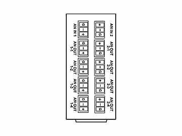 RM20-9241-B 20-slot Frame Rear I/O Module (St W) Diff Analog Audio by Cobalt Digital