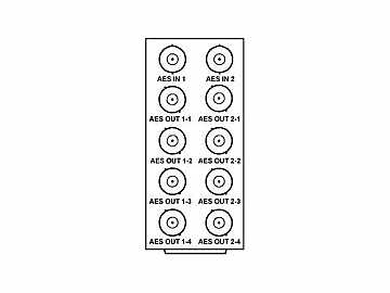 RM20-9253-A 20-slot Frame Rear I/O Module (Stand Wdth) AES by Cobalt Digital