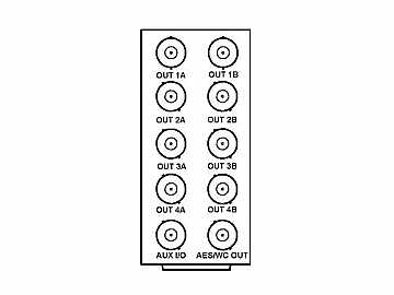 RM20-9363-A 20-slot Frame Rear I/O Module (St W) BNC Analog Reference by Cobalt Digital